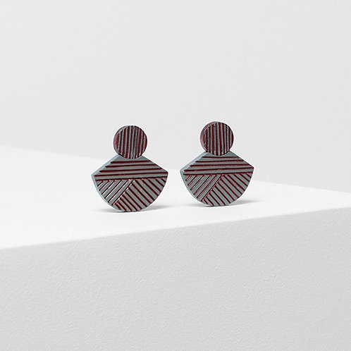 Elva Earring - Rust/Lunar Grey