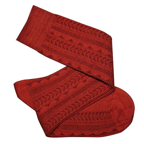 Tevere Long Socks - Rust