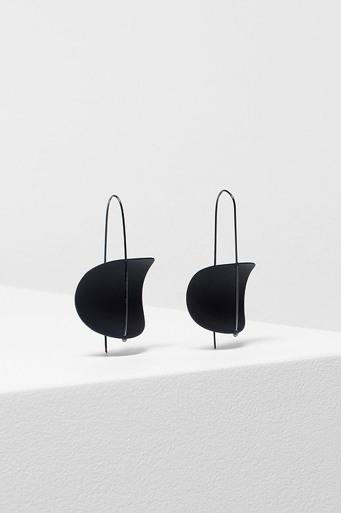Erna Earring - Black/Gunmetal