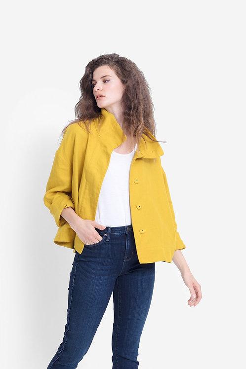 Dahme Linen Jacket - Saffron