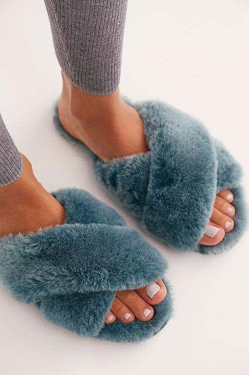 Mayberry Frost Sheepskin Slippers - Frost Deep Teal