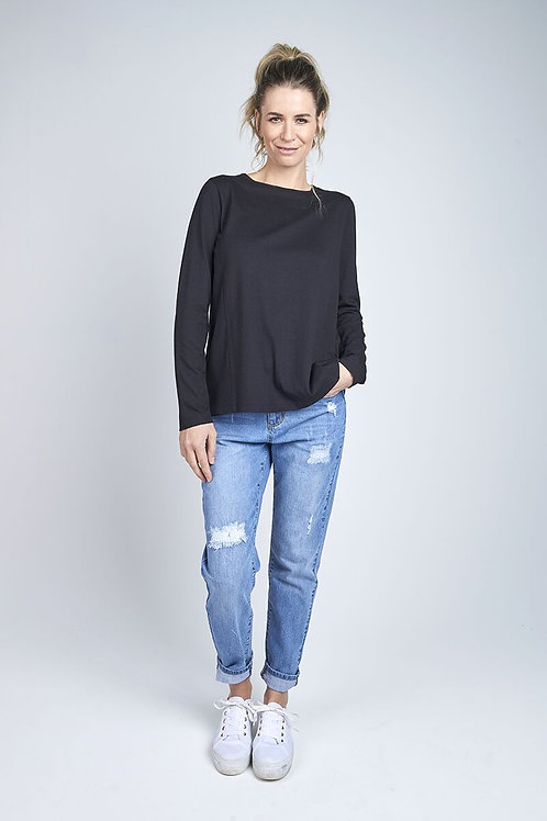 Long Sleeve Panel Top