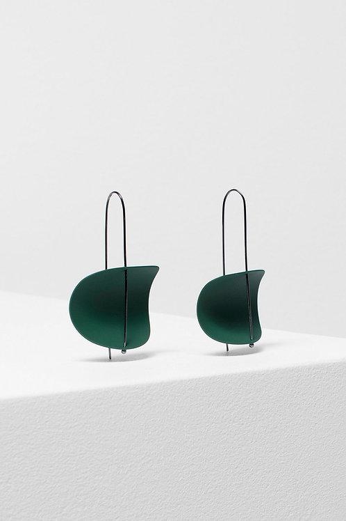 Erna Earring - Pesto/Gunmetal