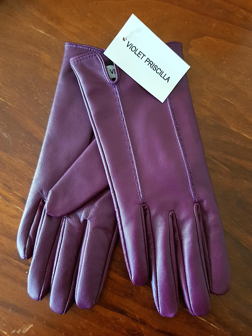 Leather Gloves - Mulberry Stitch