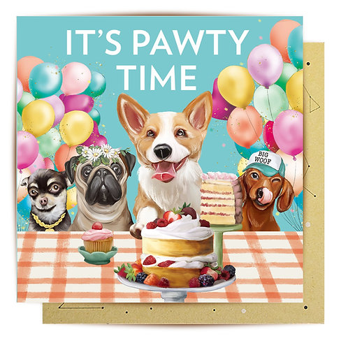 Greeting Card Pawty Time
