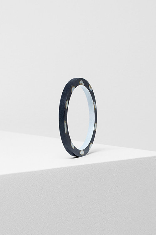 Painted Poppy Bangle - Charcoal