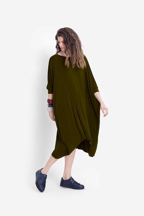 Wide Stretch Dress - Dark Citronelle