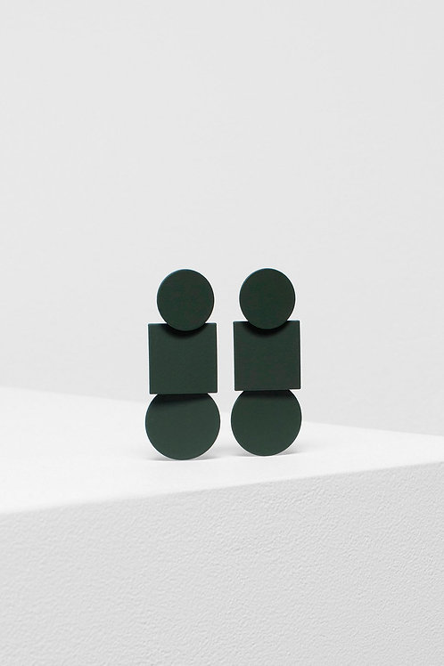 Fala Drop Earrings - Olive