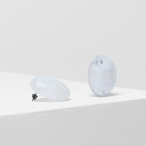Organisk Bead Earring - White