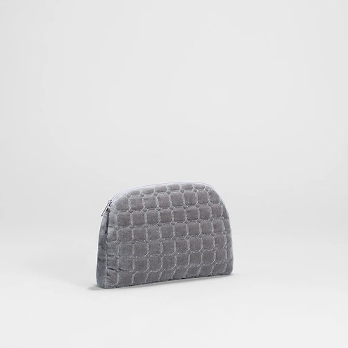 Inka Velvet Pouch - Grey