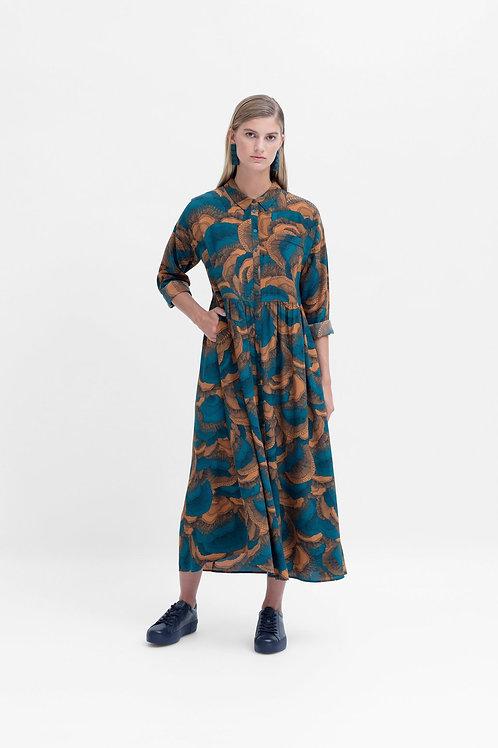 Fleur Shirt Dress - Dijon