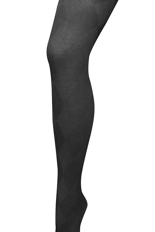 Harlequin Cotton Tights - Black
