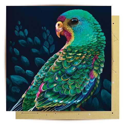 Greeting Card Swift Parrot
