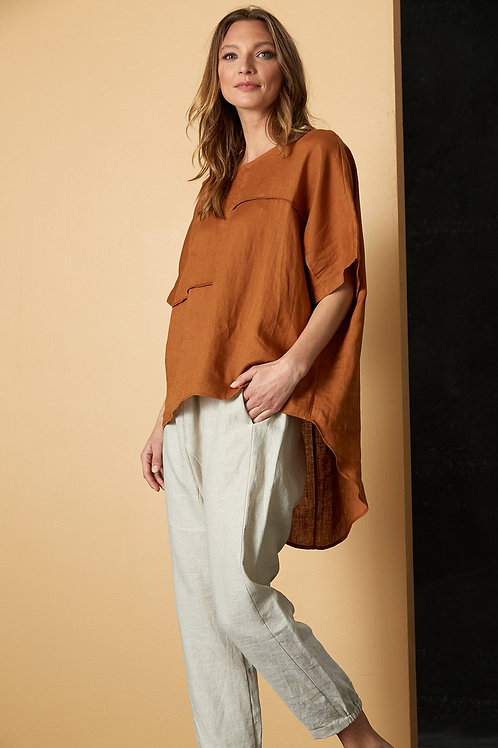 Bask Easy Top - Caramel