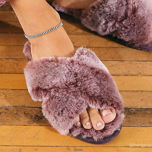 Mayberry Frost Sheepskin Slippers - Burnt Rust