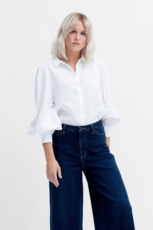 Tia Linen Shirt - White