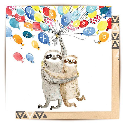 Mini Card Sloth Balloons