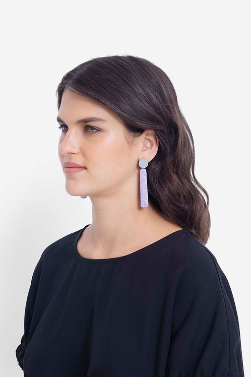 Rakel Earring - Lilac/Grey