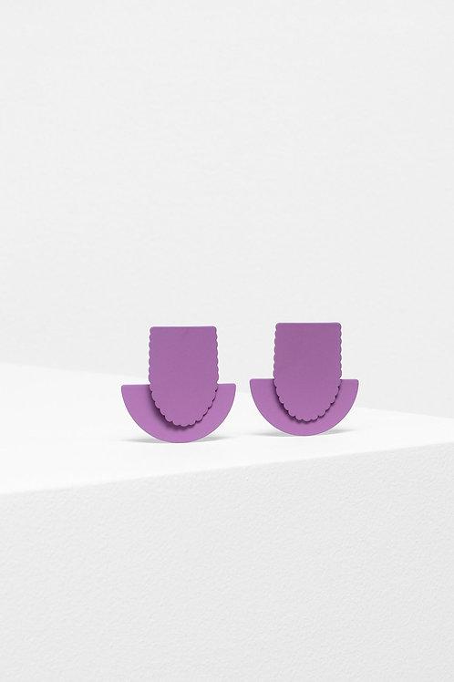 Flor Drop Earring - Mauve