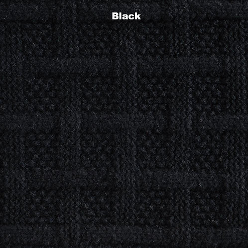 Basketcase Lambswool Scarf - Black