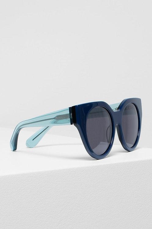 Naema Sunglasses - Navy/Emerald