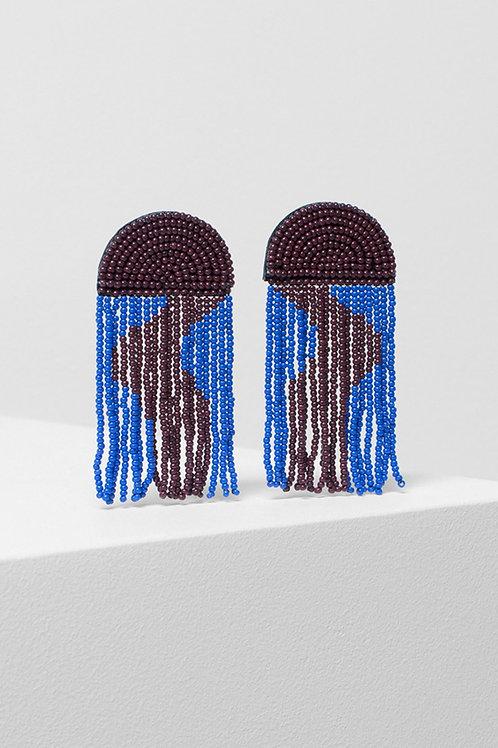 Jens Swirl Earring - Windsor/Bright Blue