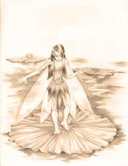 Lily Faerie sepia