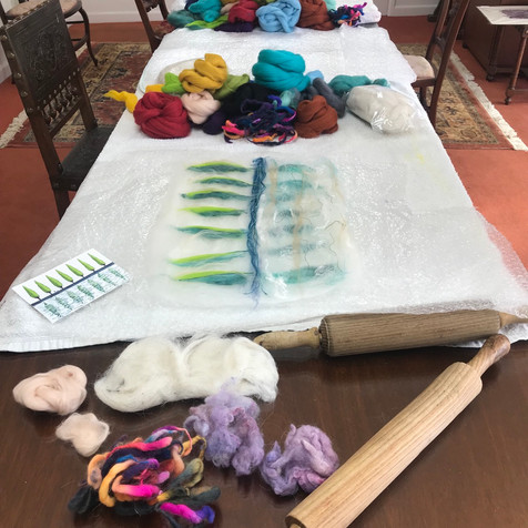 Preparation for the wet felting course