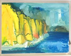 East Cliff, blue