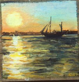 Sunset in Nida