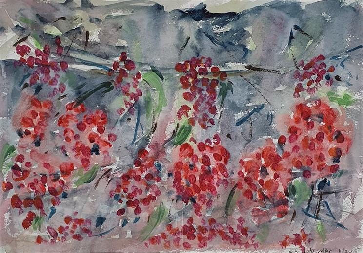 38. Grapes in the Rain