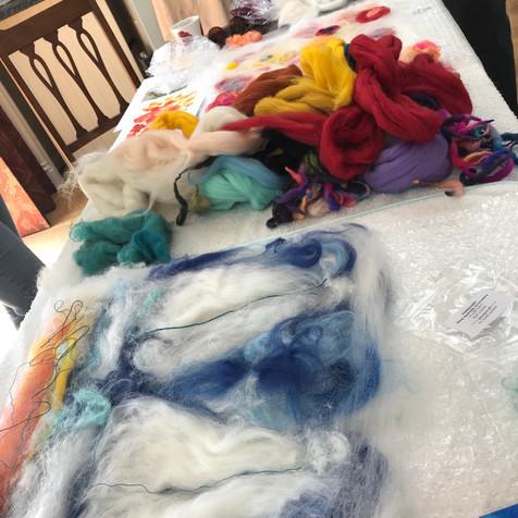 Lots of wool fibres