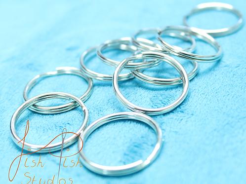 Keyring Blanks - 2.5cm / 1 inch Silver Coloured
