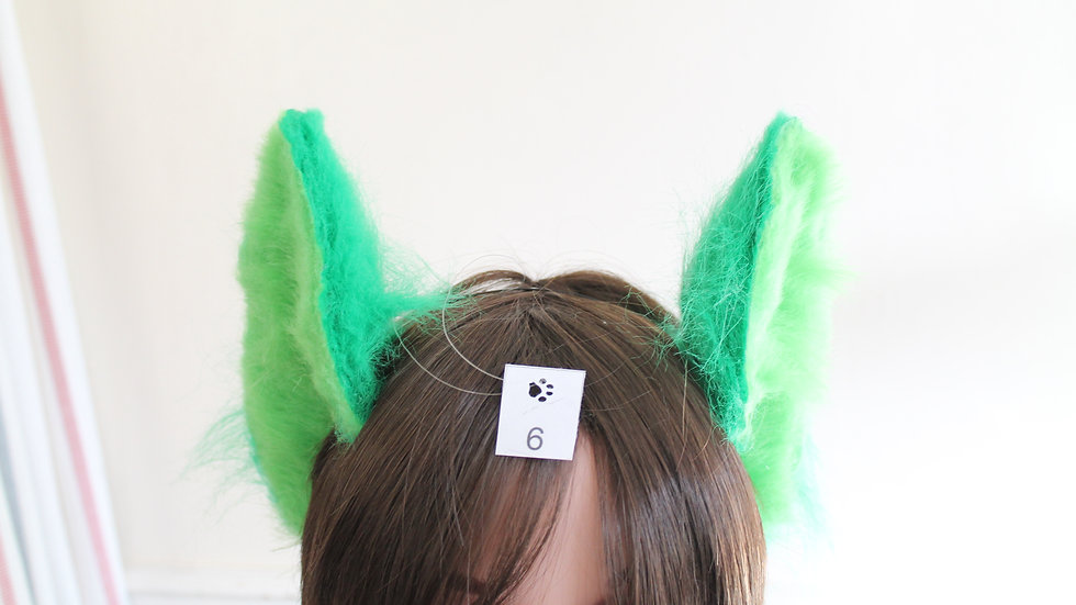 Flexi Ears on Headband - Lime and Forest Green