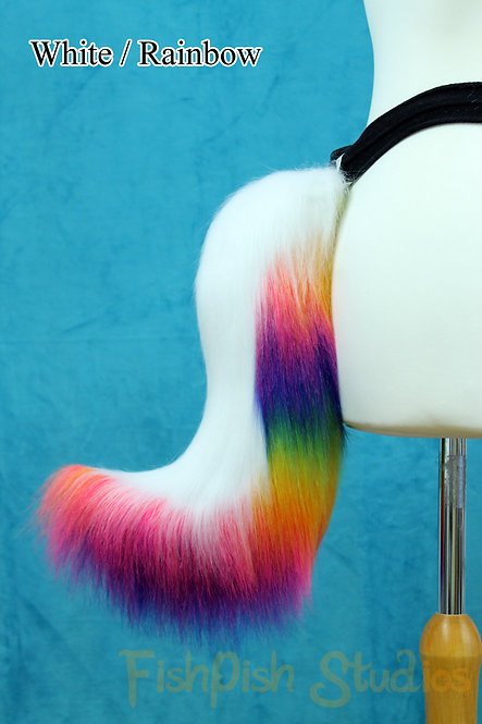 Small Wolf Fursuit Tail - One or Two Colours