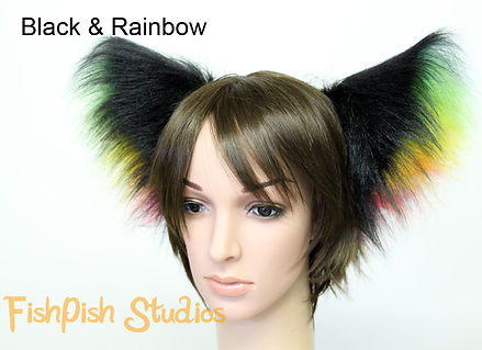 fluffy party cat ears for events raves conventions and parades