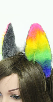 Flexible cat ears for parades and costumes