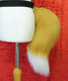 Small traditional fox tail for costumes and halloween