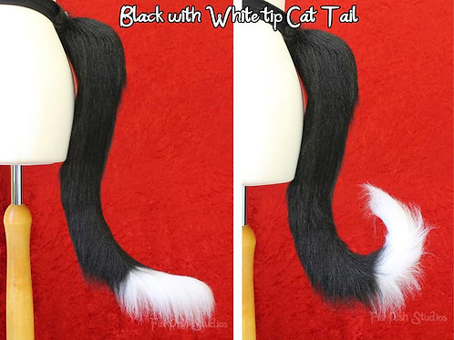 Small Kitty Cat Styled Fursuit Cosplay Tail - One or Two Colours