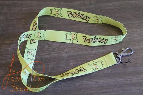 Pokemon Pikachu Lanyard