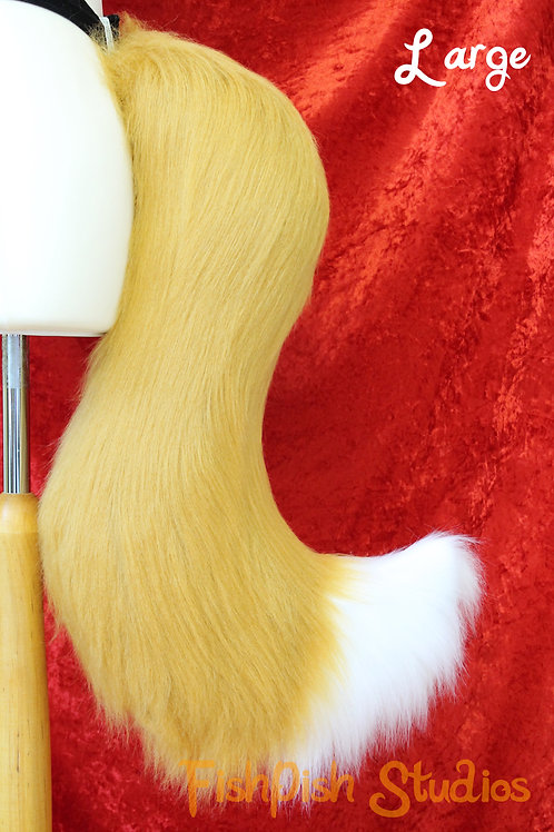 Large Fox - 2 Colours - Fursuit Cosplay Tail