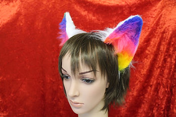 Flexiable cat ears for cosplay parades and conventions