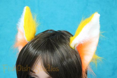 Tufted Flexi Party Cat Ear Headband - up to Three Colours