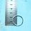 Thumbnail: Keyring Blanks - 2.5cm / 1 inch Silver Coloured