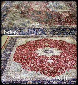Persian Rug Cleaning before-after