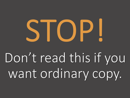 Does your web copy follow this golden rule?