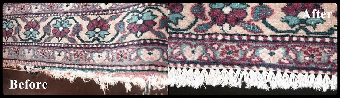 fringes repair on persian rugs