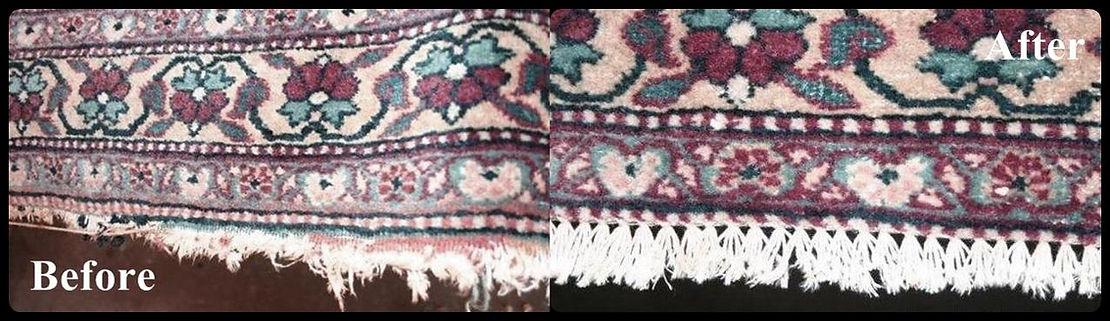 fringes repair on persian rugs