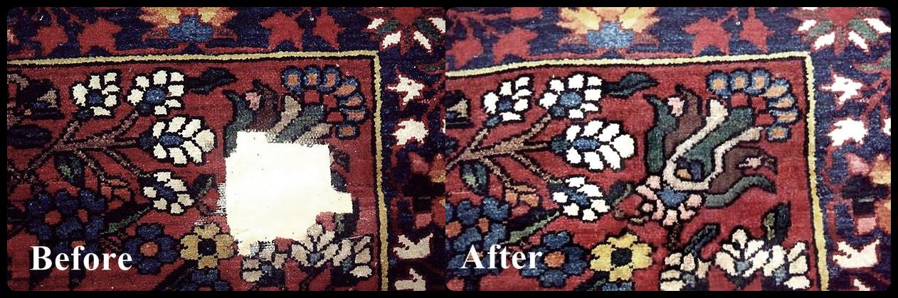 Rug repair before-after