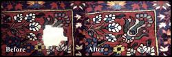 Rug repair before-after